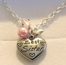 Best Sister necklace in gift box  choose colour