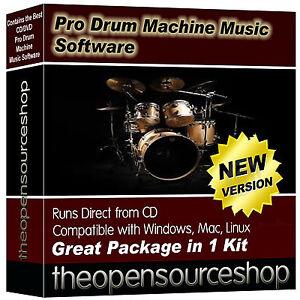 Drum Machine & MIDI Sequencer Software Suite – Crete and Edit Professional Drum