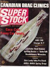 Super stock & drag sept 1970 AMX-dodge charger-bob banning-dick landy-drag race