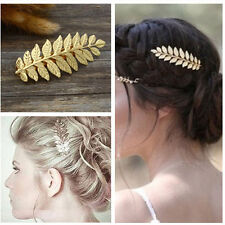 Annielov Unique Metal Hair Clip Leaf Barrettes Hair accessories Vintage Style