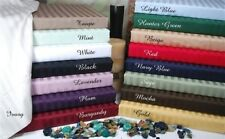 Attached Water Bed Sheet Set All Striped Colors & Sizes 1000 TC Egypt Cotton