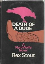 Rex Stout Death of a Dude (Nero Wolfe) Book Club Edition