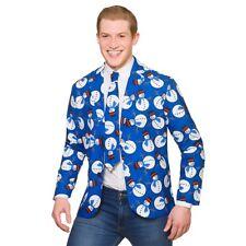 Christmas Suit Jacket + Tie Matching Novelty Adults Xmas Fancy Dress M-XL