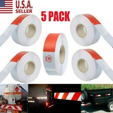 """New listing 5pcs Dot-C2 Premium Reflective Red and White Conspicuity Tape Trailer 2""""x150"""
