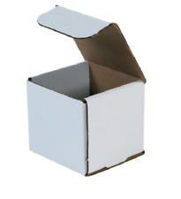 "50 Pack 4x4x4 White Corrugated Shipping Mailer Packing Box Boxes 4"" x 4"" x 4"""