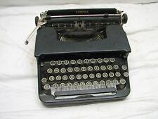 L.C. Smith & Corona Standard Flat Top Portable Typewriter Art Deco