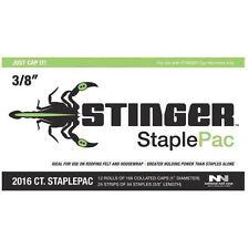 "National Nail Stinger Cap And Staples Pack - 3/8"" For Stinger Ch38"