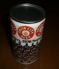 1976 PITTSBURGH STEELERS SUPERBOWL IRON CITY BEER CAN