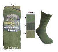 Herren Militär Armee Grün 3 Paar Stiefelsocken Socken