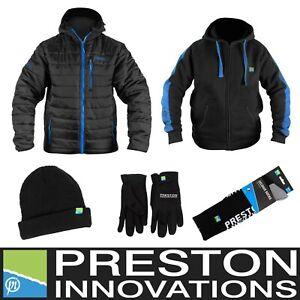 Preston Innovations Winter Clothing Bundle - Jacket Hoodie Beanie Socks & Gloves