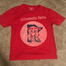 minnesota mlb baseball wright and ditson red t shirt vintage logo win! twins!