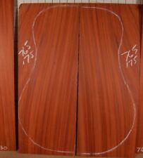 Figured African Padauk tonewood guitar luthier set back and sides
