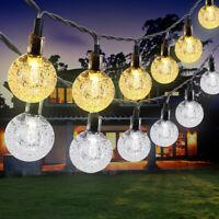 21FT Outdoor String Lights 30 LED Solar Bulb Patio Party Yard Garden Wedding