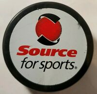 SOURCE FOR SPORTS VINTAGE OFFICIAL HOCKEY PUCK RARE VEGUM MFG. made in SLOVAKIA