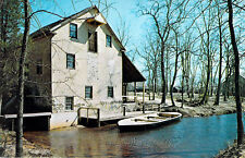 Postcard Gristmill at Batsto Wharton State Forest Burlington County NJ Chrome A1