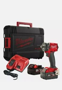 """Milwaukee M18FIW2F12-502X 18V 1/2"""" Friction Impact Wrench 2 x 5.0Ah Batteries"""