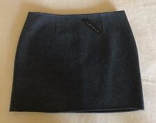 Theory mini skirt - Charcoal Grey - Wool - Size 8 - NEW WITH TAGS - 85% off