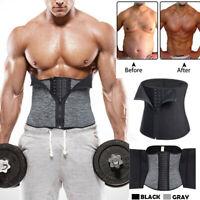Hot Men Neoprene Shapewear Sweat Belt Waist Cincher Trainer Body Shaper Corset A