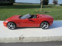 VINTAGE 1/25 SCALE SEMI PRO BUILT RED CHEVROLET CORVETTE CONVERTIBLE MODEL CAR