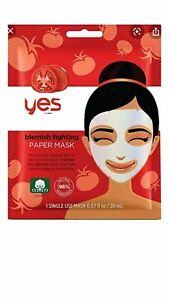 Yes to Tomatoes Acne Fighting Paper Mask  1 Mask