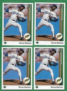 (4) 1989 Upper Deck #18 Ramon Martinez (R) Los Angeles Dodgers