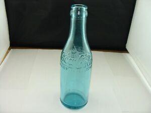 Vintage  COCA-COLA Canada  Straight Sided Blue Soda Pop Bottle