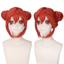 GINTAMA Kagura Bun Cosplay Anime party Hair Wig heat resistant Z119