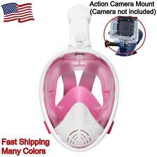 Full-Face Dry Snorkeling & Free-Diving Mask 180 Degree Anti-Fog w/ Camera Mount