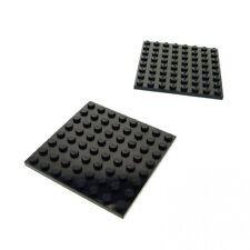2x LEGO costruzione Piastra Nero 8x8 SW 10182 10018 8142 10186 4166619 41539