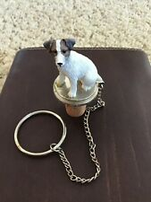 JACK RUSSELL  BROWN AND WHITE ROUGH COAT ~  WINE STOPPER