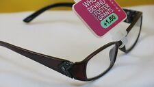 New $19.99 Foster Grant Designer Women Reading Eyeglasses-+1.50-Victoria Red