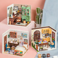 Robotime DIY Wooden Dollhouse 1:24 Miniature Furniture Toy Gift for Teens Girls