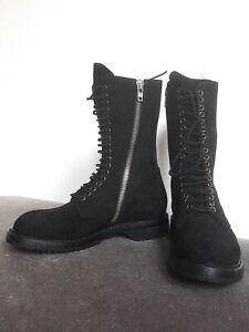 Rick Owens Combat/Biker Boots Black size 7UK/40EU