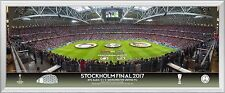 2017 UEFA Europa League Finale gerahmt Panorama Line Up