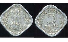 India 5 paise 1968