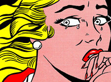 Crying Girl by Roy Lichtenstein A2 High Quality Canvas Print