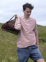 Breton Shirt by Saint James – Minquiers Moderne in Cream & Persian Red