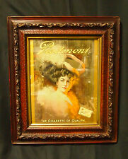 Original 1907 Piedmont Cigarette Print in Period Frame Print is Signed