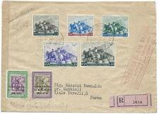 1949 SAN MARINO FDC GARIBALDI E GIORNATA FILATELICA TIMBRO ARRIVO - F