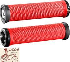 ODI ELITE MOTION LOCK-ON RED BMX-MTB BICYCLE GRIPS