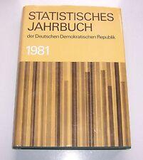 Statistisches Jahrbuch der DDR 1981 !