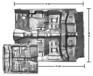 1964-67 Chevelle, GTO, Skylark, Cutlass Floor Pan Complete w/ Braces New