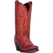 Laredo Womens Madison Western Cowboy Boots Burnished Snip Toe Burnished Red