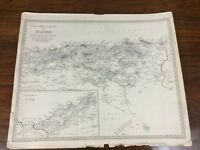 1834 Antique Map of Algeria Africa Barbary Chapman Hall Victorian Original