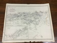 More details for 1834 antique map of algeria africa barbary chapman hall victorian original