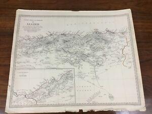 1834 Antique Map of Algeria Africa Barbary Chapman Hall Victorian Original