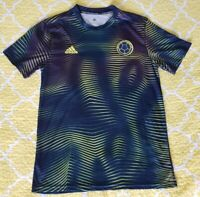 NEW AWAY BLUE/YELLOW MEN'S COLOMBIA SOCCER JERSEY. SIZE L . FUTBOL. RARE TO GET