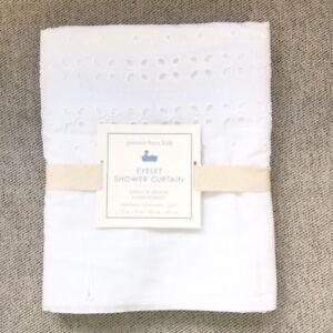 Pottery Barn Kids Eyelet shower curtain only white Elegant