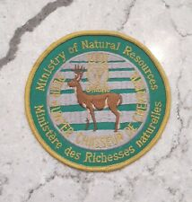 Ontario ministry of natural resources successful deer hunter patch - 1991