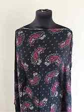 40's Style Paisley Flora/Flower Mosaic Viscose Crepe de Chine Dress Fabric 1.5mt
